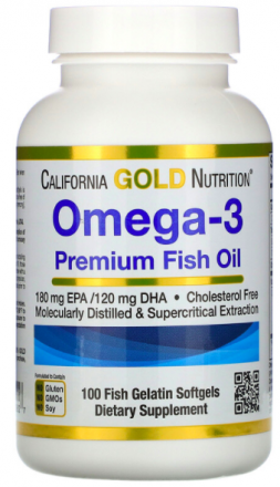 Омега-3 California Gold Nutrition (100 капсул)