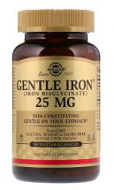 Solgar Gentle Iron 25 мг (180 капс)