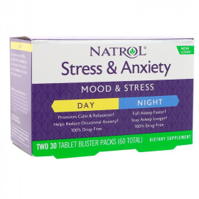 Natrol Stress & Anxiety Day+Nite (60 табл)