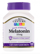 21st Century Melatonin 10 mg (120 жев табл)