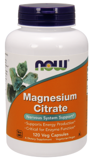 Now Magnesium Citrate (120 капс)