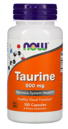 NOW Taurine 500 mg (100 капс)