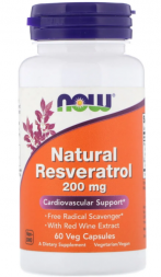 NOW Natural Resveratrol 200 мг (60 капс)