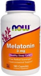 NOW Melatonin 3mg (180 кап)