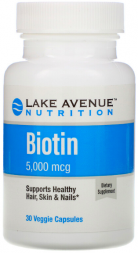 BIOTIN 5000 mcg Lake Avenue Nutrition (30 кап)