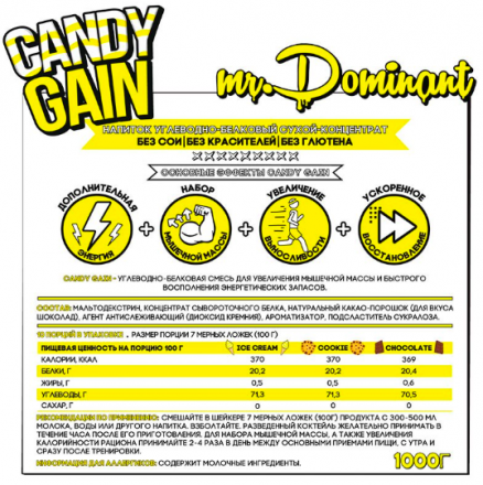 Mr Dominant Candy Gain (1000 г)