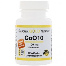 California Gold Nutrition CoQ10 100mg (30 кап)