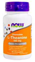 NOW L-Theanine 100 mg (90 жев табл)