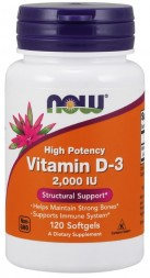 NOW Vitamin D-3 2000 IU (120 кап)