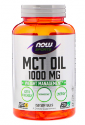NOW MCT Oil 1000 мг (150 капсул)