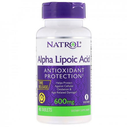 Natrol Alpha Lipoic Acid 600 mg (45 таб)