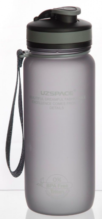 Бутылка для воды Colorful Frosted UZSPACE (650 мл)