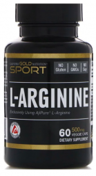 California Gold Nutrition L-Аргинин 500 мг (60 капс)