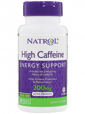 Natrol High Caffeine 200 mg (100 табл)