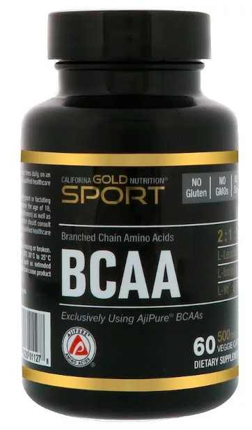 California Gold Nutrition BCAA  500 мг (60 капс)