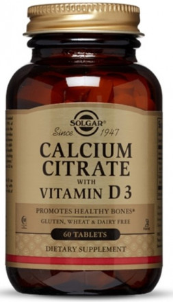 Solgar Calcium Citrate with Vitamin D3 (60 таб)