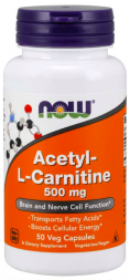 NOW Acetyl-L Carnitine 500 mg (50 кап)