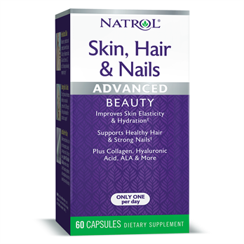 Natrol Skin Hair & Nails с Лютеином (60 капс)