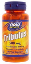 Now Tribulus 500 мг 45% Saponins (100 кап)