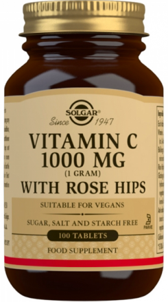 Solgar Vitamin C 1000 mg with Rose Hips (100 таб)