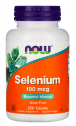 NOW Selenium Yeast Free 100 mg (250 таб)