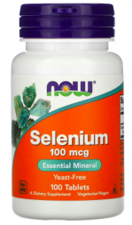 NOW Selenium Yeast Free 100 mg (100 таб)